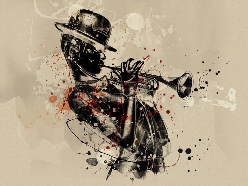 abstrakt framsidakvinna Grungemode royaltyfri illustrationer
