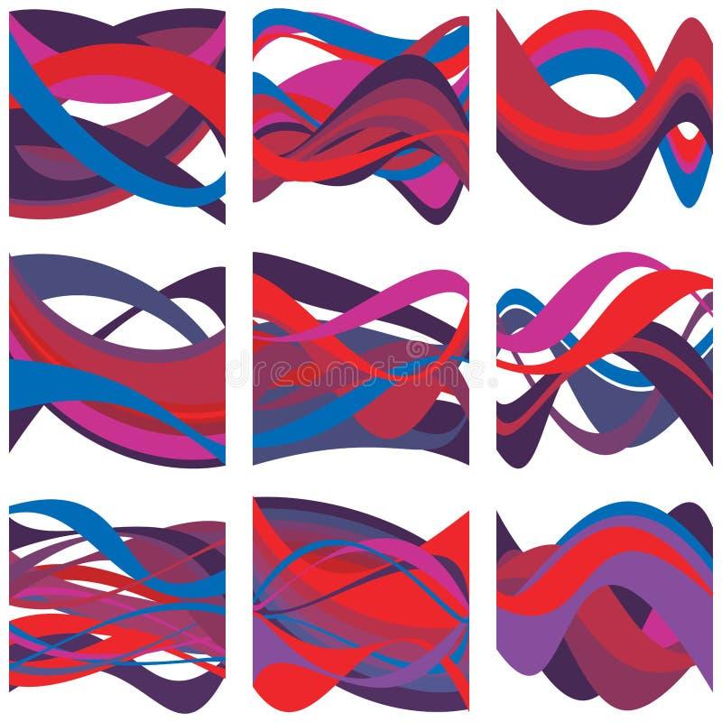 Abstrakt framställning av missljud vektor illustrationer