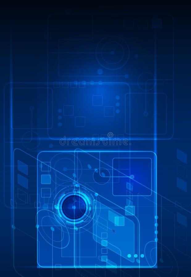 Abstrakt framtida digitalt vetenskapsteknologibegrepp vektor illustrationer