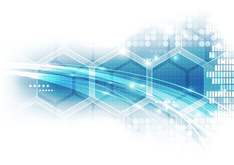 Abstrakt framtida hög-hastighet teknologibakgrund, vektorillustration royaltyfri illustrationer