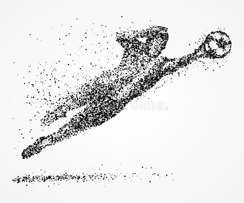 Abstrakt, futbol, bramkarz, atleta royalty ilustracja