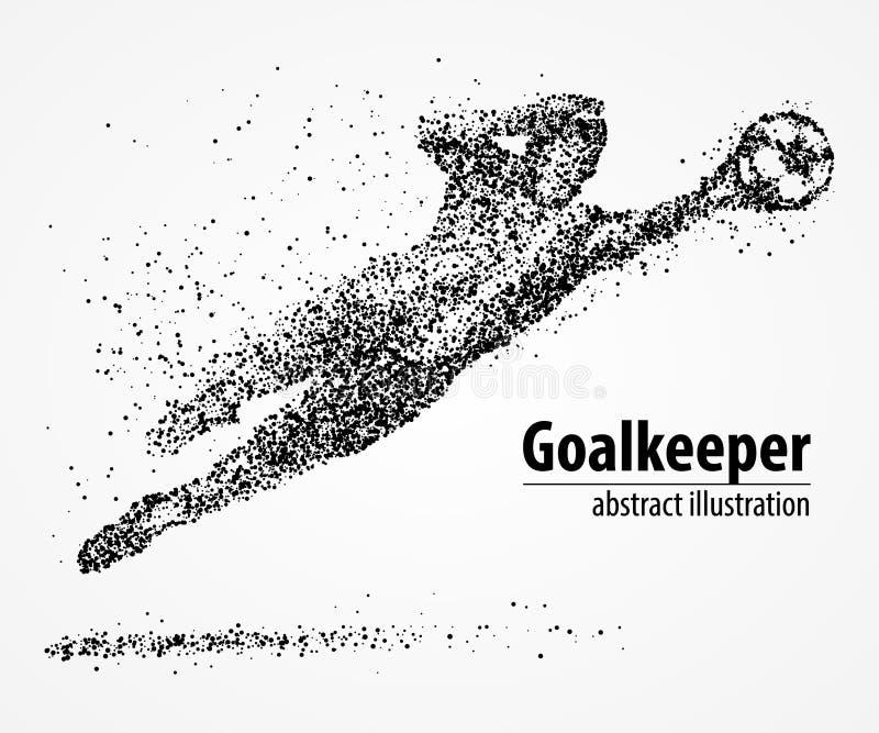 Abstrakt, futbol, bramkarz, atleta ilustracja wektor