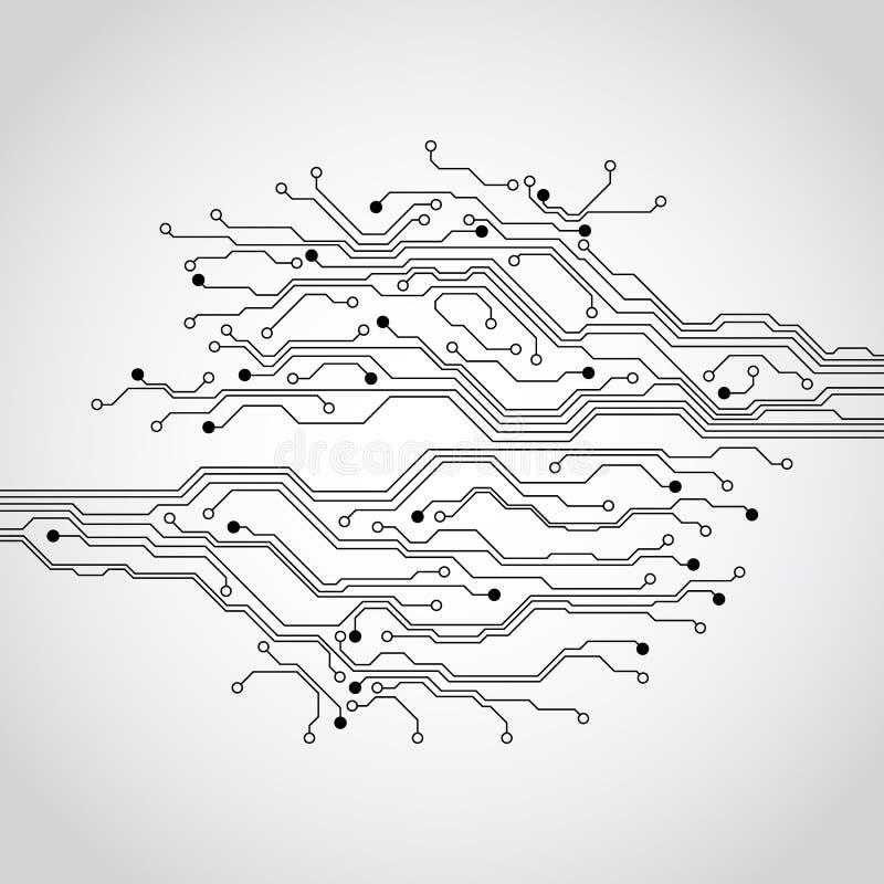 Abstrakt futuristisk bakgrund för begrepp för teknologiströmkretsbräde, vektorillustration vektor illustrationer