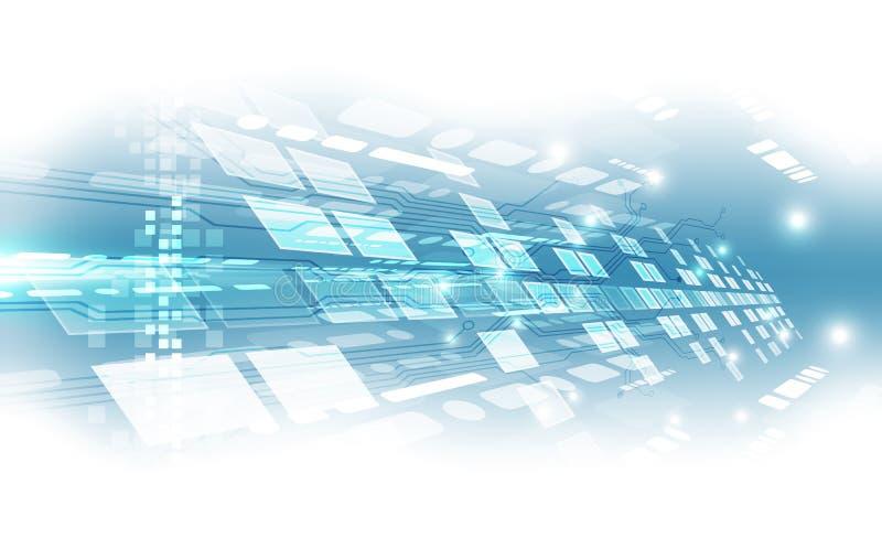 Abstrakt futuristisk bakgrund för digital teknologi illustrationvektor stock illustrationer