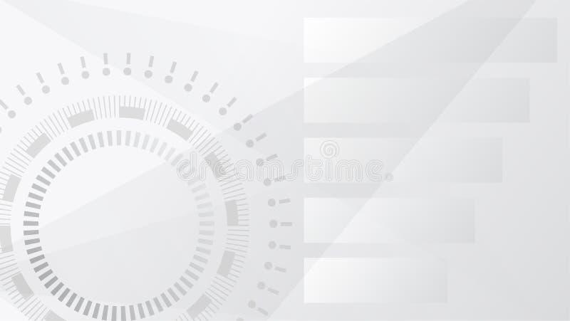 Abstrakt futuristisk bakgrund, modern illustration för teknologistilvektor Grå bakgrund för affärstech royaltyfri illustrationer