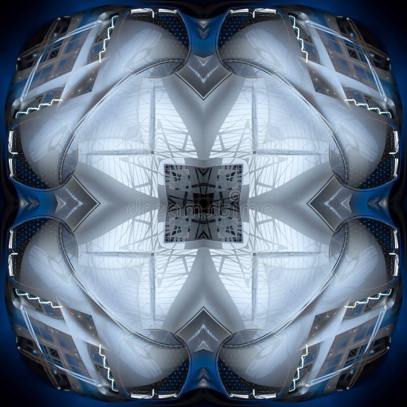 Abstrakt futuristisk beståndsdeltextur för sömlös symmetrisk modell vektor illustrationer