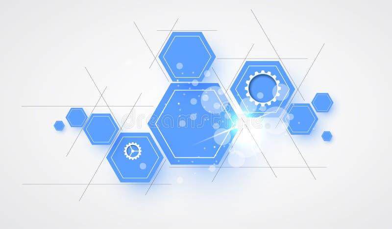 Abstrakt futuristisk datateknikaffärsbakgrund stock illustrationer