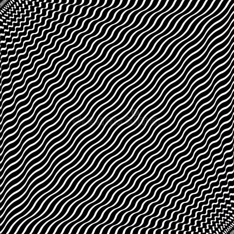 Abstrakt futuristisk monokrom randig bakgrund vektor stock illustrationer