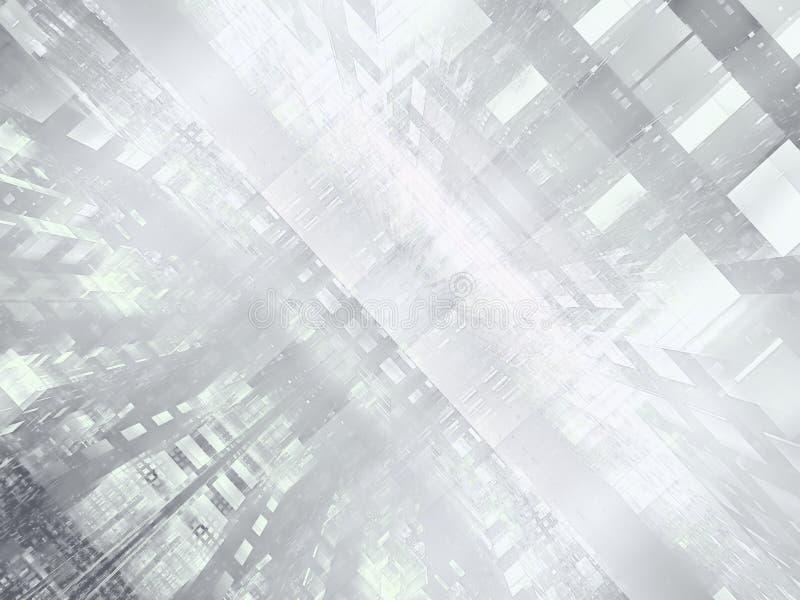 Abstrakt futuristisk portal eller datorhall - frambragte digitalt bild royaltyfri illustrationer