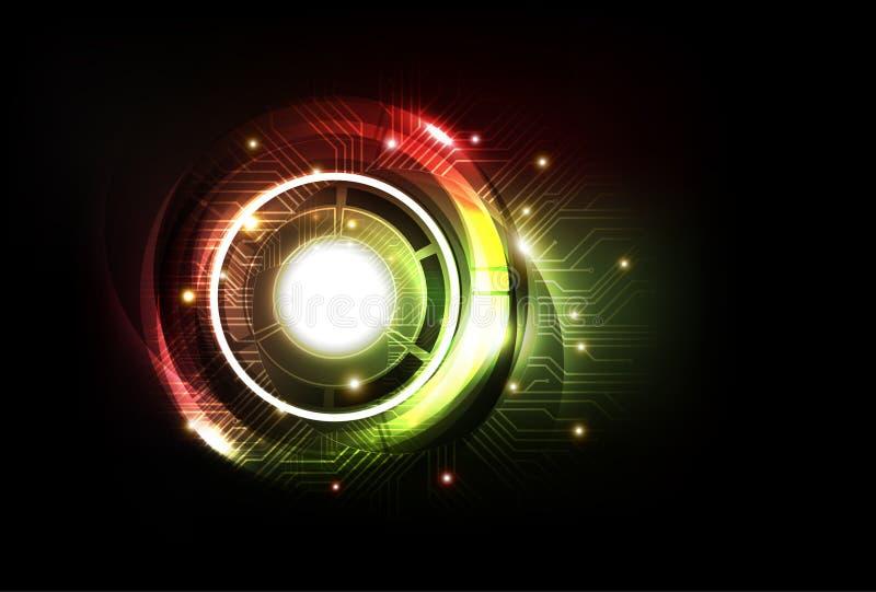 Abstrakt futuristisk teknologibakgrund, vektor stock illustrationer