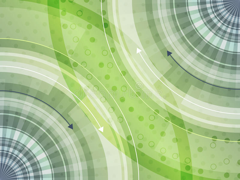 Abstrakt futuristisk teknologiinnovationbakgrund med den runda modellen vektor illustrationer