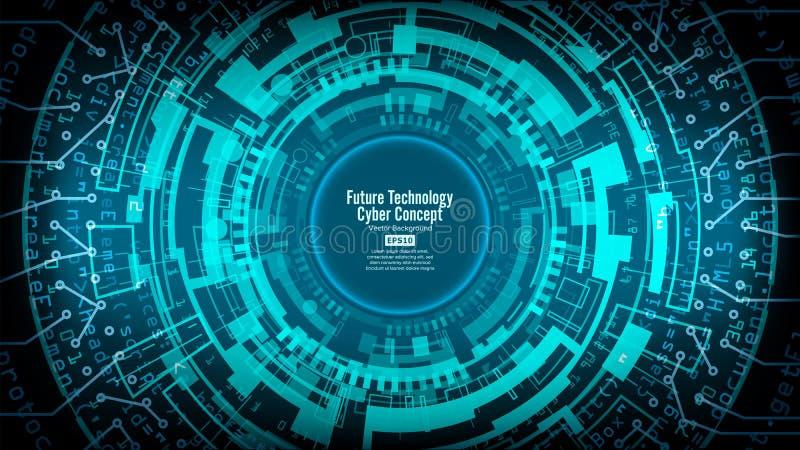 Abstrakt futuristisk teknologisk bakgrundsvektor Hög hastighetsDigital design Säkerhetsnätverksbakgrund royaltyfri illustrationer