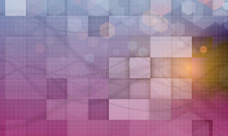 Abstrakt futuristiskt bleknar datateknikaffärsbakgrund royaltyfri illustrationer