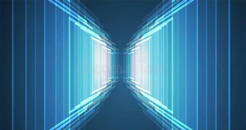 Abstrakt futuristiskt bleknar datateknikaffärsbakgrund stock illustrationer
