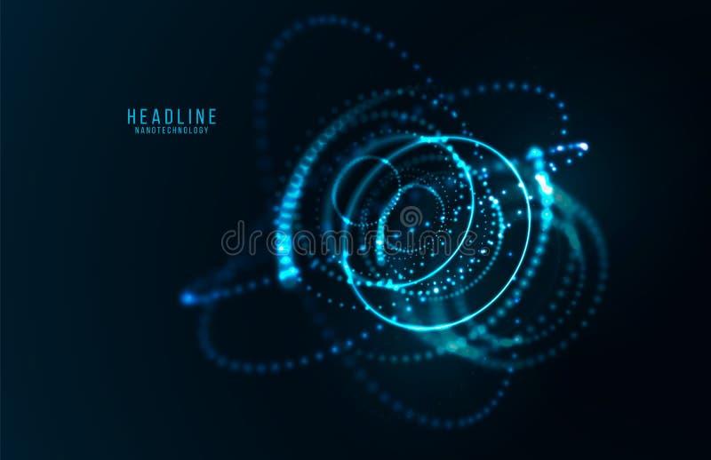 Abstrakt futuristiskt objekt HUD elemet vektor illustrationer