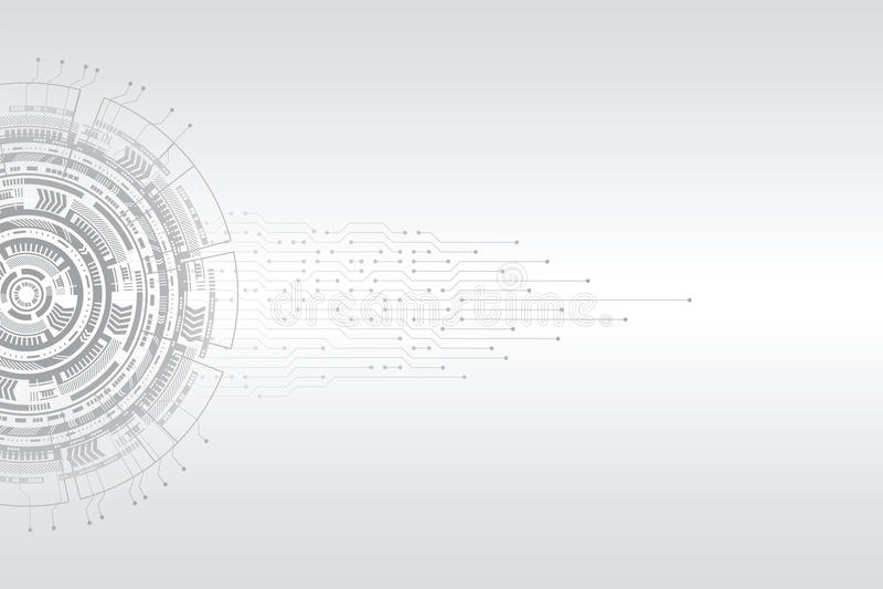 Abstrakt futuristiskt strömkretsbräde royaltyfri illustrationer