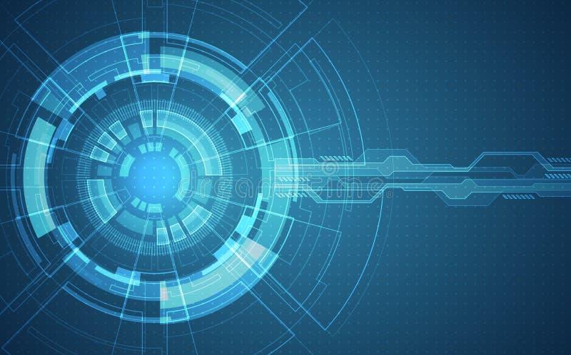 Abstrakt futuristiskt strömkretsbräde, begrepp för digital teknologi för dator för illustration högt, vektorbakgrund royaltyfri illustrationer