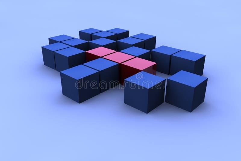 abstrakt fyrkant 3d royaltyfri illustrationer
