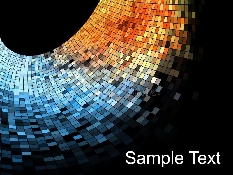 abstrakt fyrkant för bakgrundsmosaikPIXEL stock illustrationer