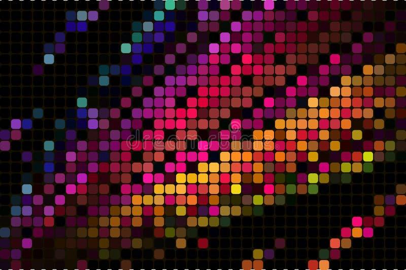 abstrakt fyrkant för bakgrundsmosaikPIXEL abstrakt geometrisk mosaikbakgrund av fyrkanter royaltyfri illustrationer