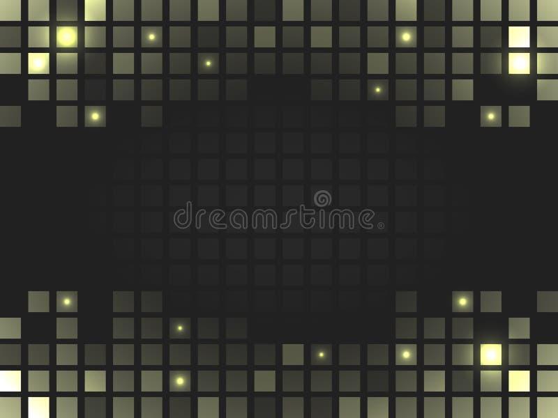 Abstrakt fyrkantig guld- mosaikbakgrund med stället för ditt innehåll vektor illustrationer