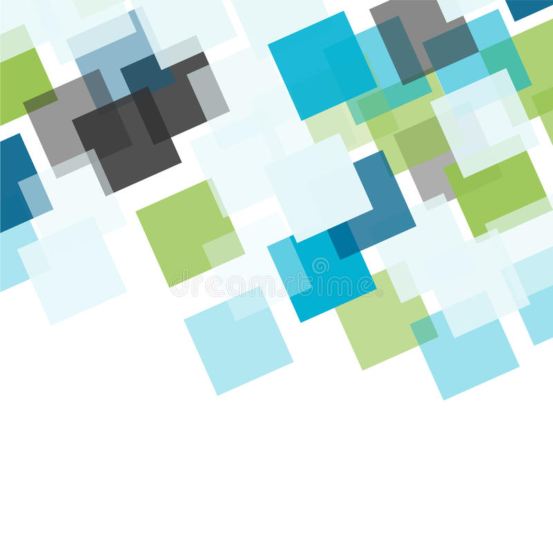 Abstrakt fyrkantig mosaikbakgrund royaltyfri illustrationer