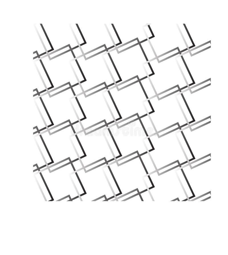 Abstrakt fyrkantsvart och gr?tt med vit bakgrund stock illustrationer