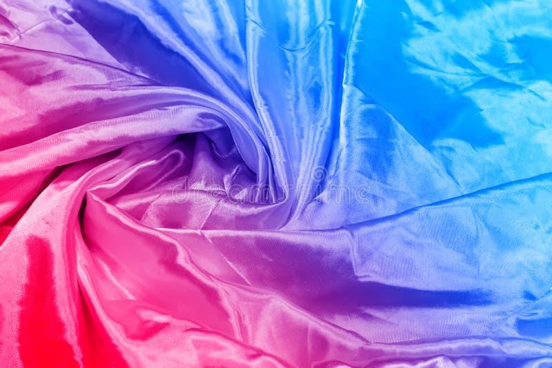 Abstrakt Gładka elegancka czerwień - błękitny jedwab obraz stock