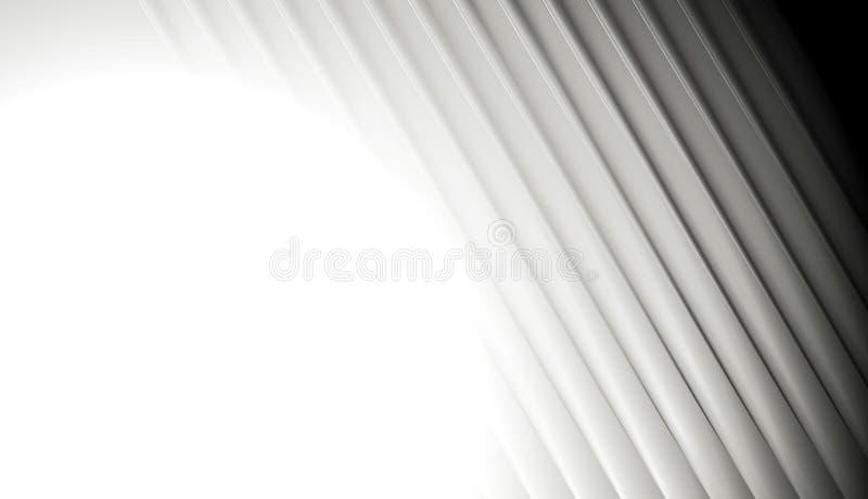 Abstrakt gładki siwieje pasiastego tło royalty ilustracja