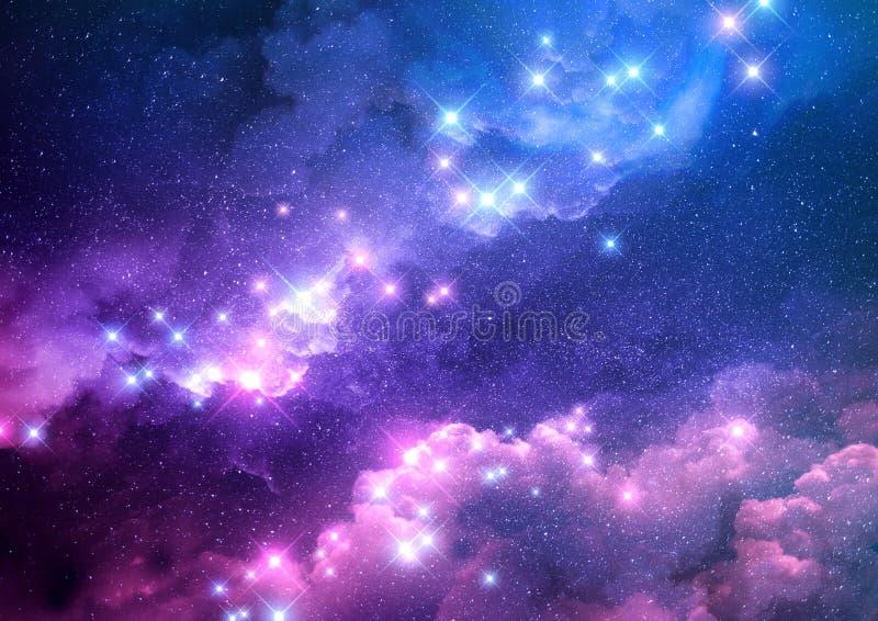 Abstrakt galaxbakgrund vektor illustrationer