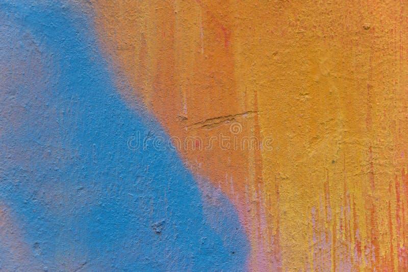 Abstrakt gemalte Betonmauer stockbild