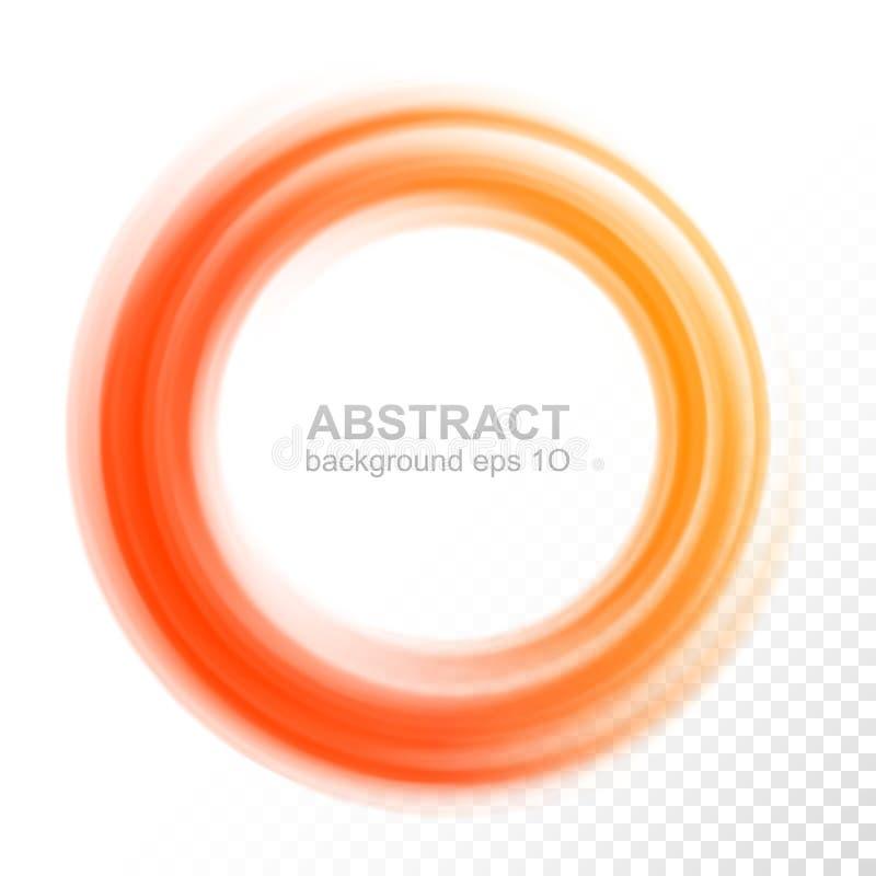 Abstrakt genomskinlig orange virvelcirkel royaltyfri illustrationer
