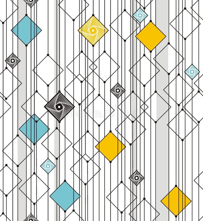 Abstrakt geometri från fyrkanter och linjer vektor illustrationer