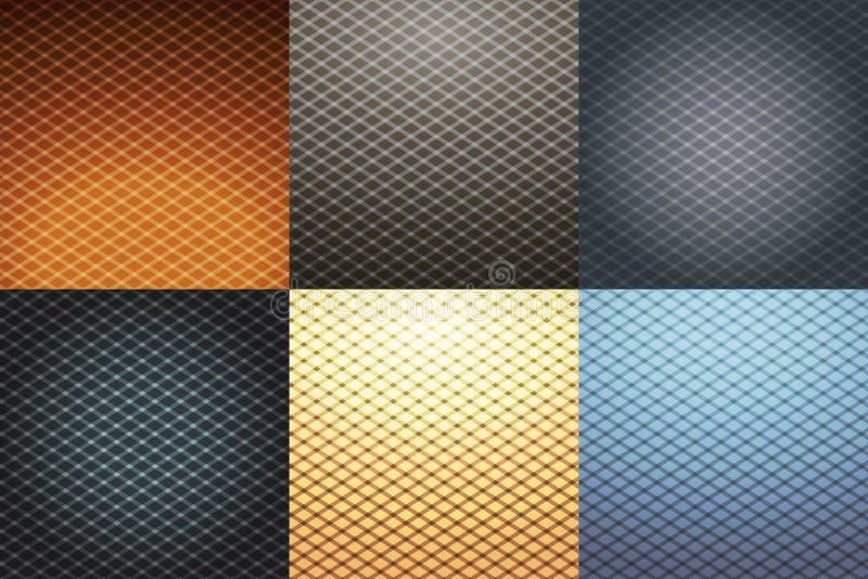 Abstrakt geometricallbakgrundsuppsättning stock illustrationer