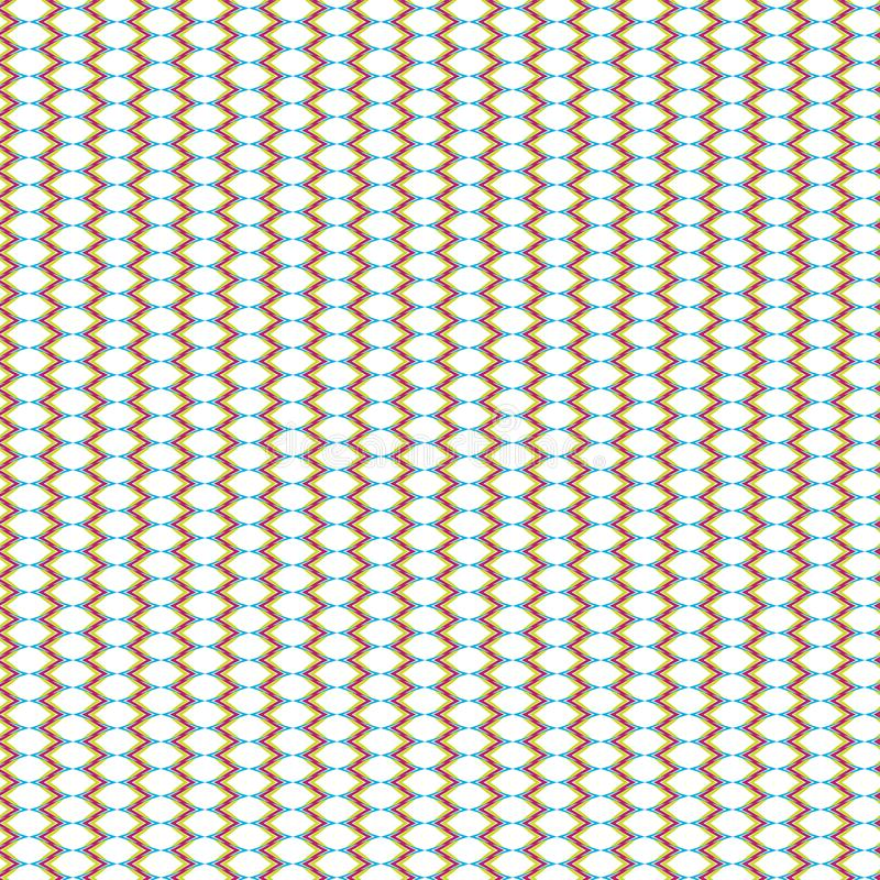 Abstrakt geometrisk attraktionrastertextur färgrika Mesh Pattern Fabric Illustration Seamless royaltyfri illustrationer