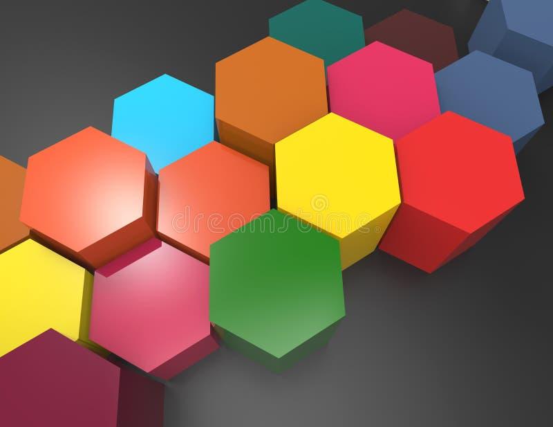 Abstrakt geometrisk bakgrund vektor illustrationer