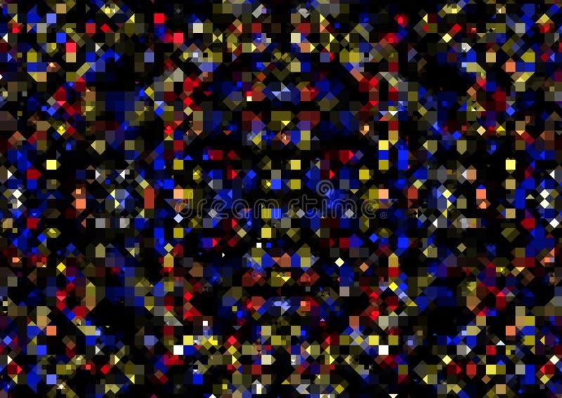 Abstrakt geometrisk bakgrund av fyrkanter och trianglar royaltyfri foto