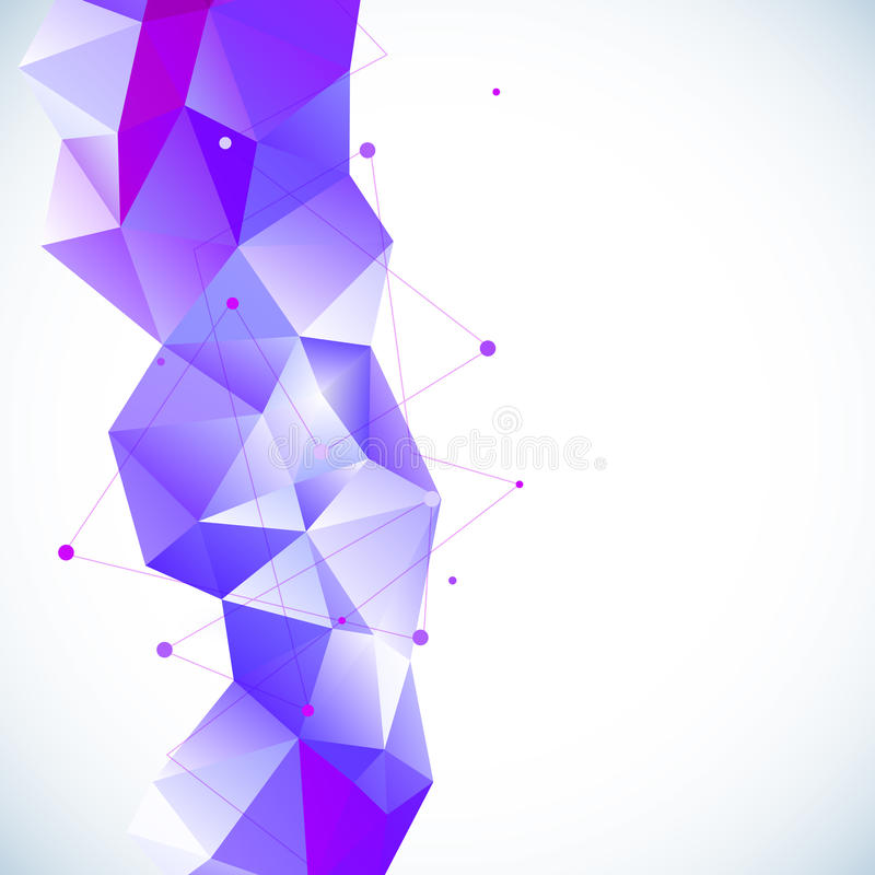 Abstrakt geometrisk bakgrund 3D vektor illustrationer