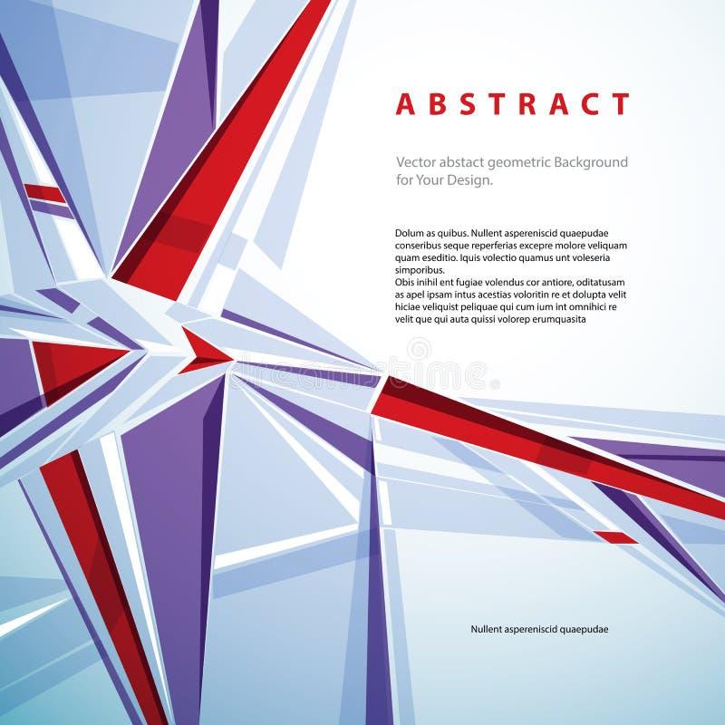 Abstrakt geometrisk bakgrund för vektor, illustr för modern stil royaltyfri illustrationer