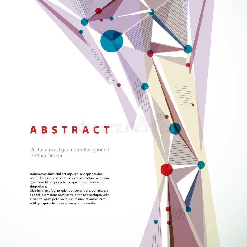Abstrakt geometrisk bakgrund för vektor, illustr för modern stil stock illustrationer