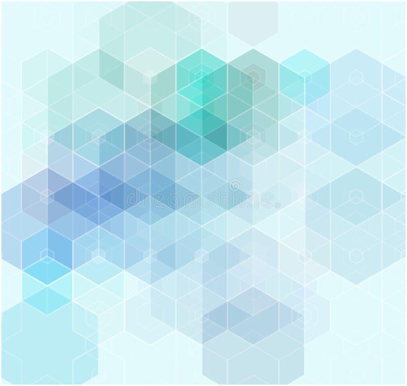 Abstrakt geometrisk bakgrund för vektor Mallbroschyrdesign stock illustrationer