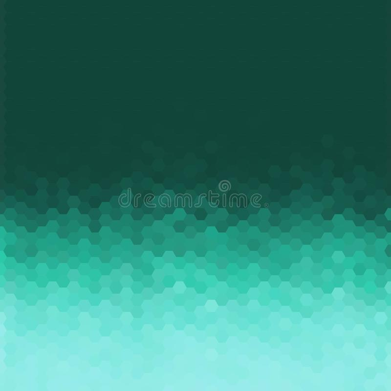 Abstrakt geometrisk bakgrund f?r vektor Mallbroschyrdesign Bl? sexh?rningsform 10 eps vektor illustrationer