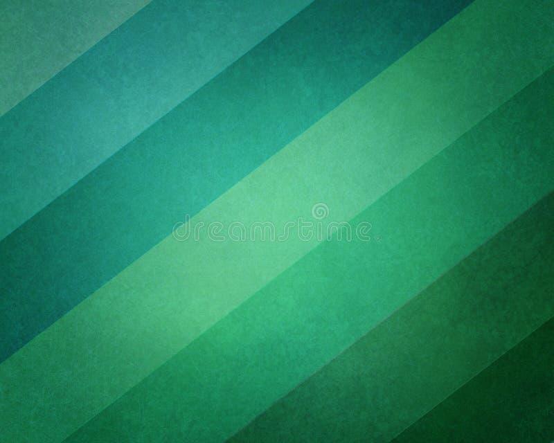 Abstrakt geometrisk bakgrund i modern blått- och gräsplanstrand färgar toner med mjuk belysning och texturerar på randig kvarterm stock illustrationer