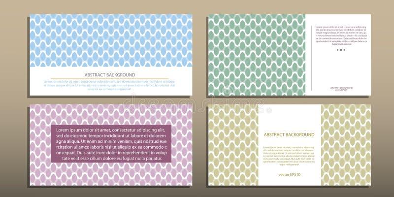 Abstrakt geometrisk bakgrund i olika variationer av bruksvektorn EPS 10 royaltyfri illustrationer