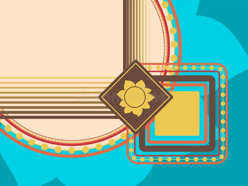 Abstrakt geometrisk bakgrund med olika variationer av handböckerna för din design royaltyfri illustrationer