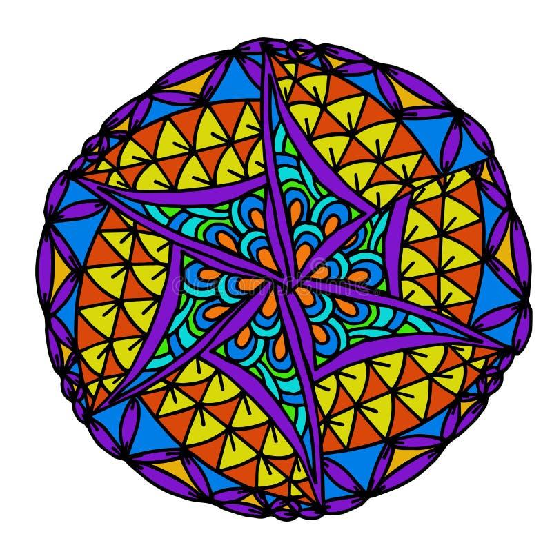 Abstrakt geometrisk bildmandalamodell royaltyfri illustrationer