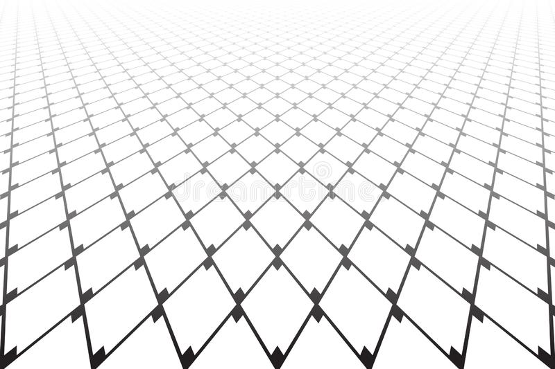 Abstrakt geometrisk diamantmodell minska perspektiv vektor illustrationer