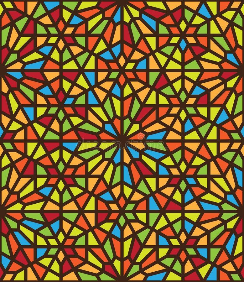 Abstrakt geometrisk etnisk prydnad för vektor stock illustrationer