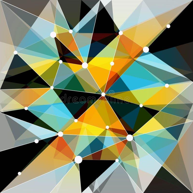 Abstrakt geometrisk färgrik bakgrund vektor illustrationer