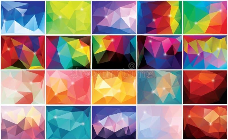 Abstrakt geometrisk färgrik bakgrund, modelldesign vektor illustrationer